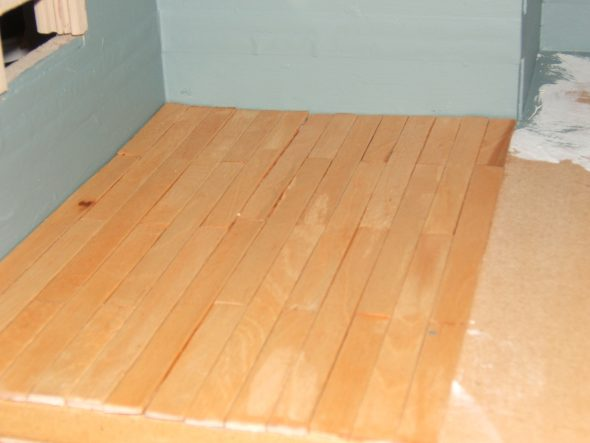 1/12 Scale Dollhouse Wood Plank Flooring