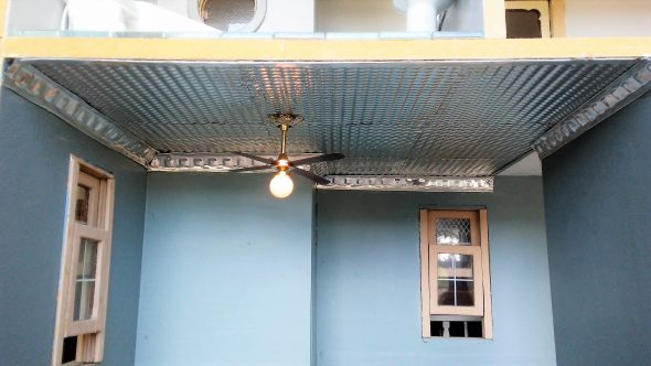 Dollhouse Tin Ceiling Tutorial – Made from Items Found at Dollar Tree